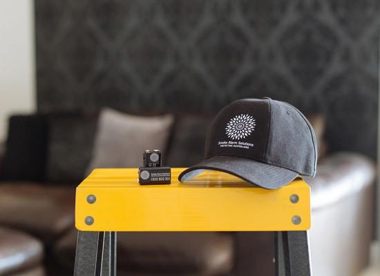 Smoke alarms blog photo on stool